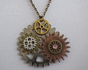 Dreams of Steampunk. Steampunk, Steampunk Necklace, Steampunk Pendant, Pendant, OOAK
