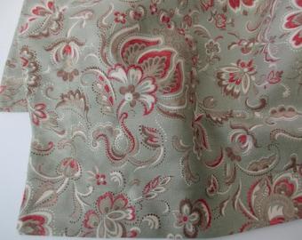 vintage Ralph Lauren cotton standard sham - paisley, floral, flowers, sage