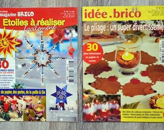 Set of 2 mini magazines Brico - stars & Christmas