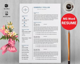 resume template professional resume template instant download resume template word cv cv - Resume Templates Free