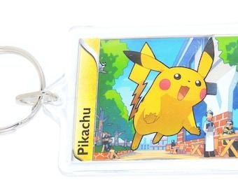 Pokemon Keyring - Pokemon Cards - Pokemon Party Bag - Upcycled and Handmade
