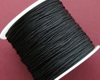 0.8mm Black Nylon Beading Cord 45 Meters Per Spool, Black Knotting Cord, Chinese Knotting Cord, Braided Jewelry Cord, Bracelet Cord CCS0014