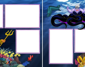 Sea Witch - Digital Scrapbooking Quick Pages - INSTANT DOWNLOAD