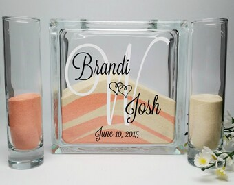 Sand Ceremony Set, Unity Sand Vase , Sand Shadow Box Kit, Wedding Sand, Beach Wedding Decor, Unity Candle Set, Sand Ceremony Kit, Sand Set