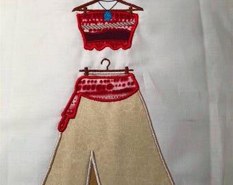 Disney Princess Moana Dress MACHINE Applique Pattern - Inspired by Disney's Moana