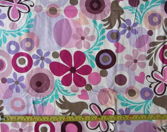 Follow your Imagination by Prints Charming for FreeSpirit, designer fabric, colourful flowers on light background, floral fabric,by the yard