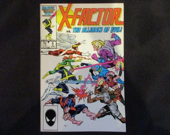 X-Factor #5  (1st Brief Appearance of Apocalypse) Marvel Comics 1986