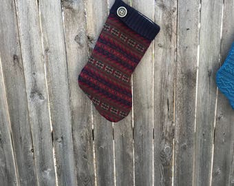 Christmas Stocking, Sweater Stocking, Up-cycled Sweater Stockings, Handmade Christmas, Holiday