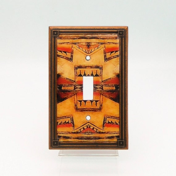 Native American Art Light Switch Cover Tribal Switch Plate