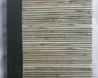 Hand-bound Woven Cover Journal w. Leather Spine
