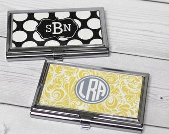 Custom business card case personalized business card case personalized business card holder monogram business card case personalized gift coworker gift colourmoves