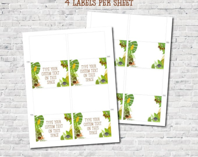 Bugs Editable Food Labels, Creepy Crawlers Printable Labels, Insects Birthday Party, DIGITAL, Instant Download