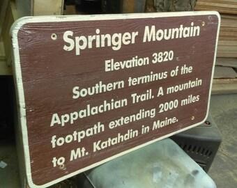 Springer Mountain Trail Sign - Appalachian Trail Southern Terminus Trail Marker