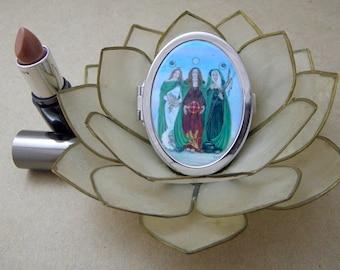 Triple Goddess Compact Fantasy Art Mirror