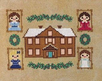 Little Women Cross Stitch Pattern- Literature Inspired PDF Instant Download