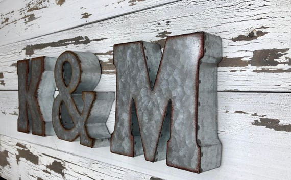 Small Tin Letters Metal Letter Galvanized Wall Letter Small Metal Letters