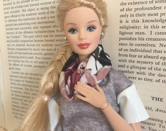 Floral 1/6 Scale Doll scarf