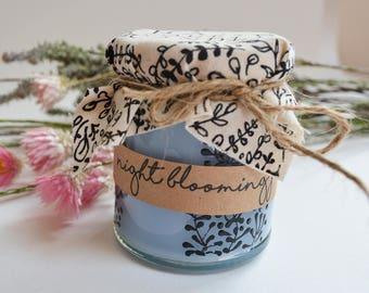 Hand Poured Candle 'Night Blooming Jasmine' Handcrafted Welsh Candles by Palamar Designs