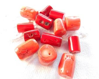 Orange red (Coral) GORGON bead.
