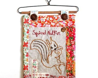 Squirrel Nutkin Stitchery Mini Quilt