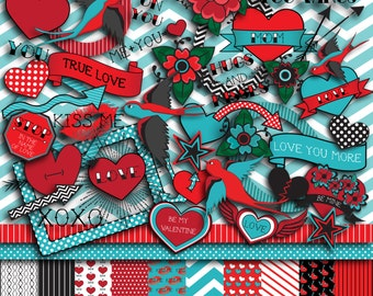 Tattoo Love Valentine's Day Scrapbooking Kit