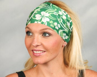 St Patricks Day Headband Workout Headband Extra Wide Headband Running Headband Fitness Headband No Slip Headband Yoga Headband Wide Headband