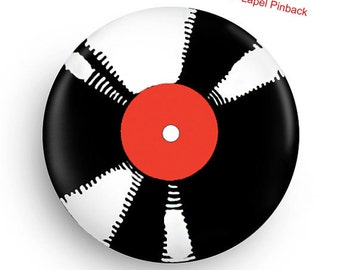 "1.25"" Cool Pinback for Vinyl Lovers"