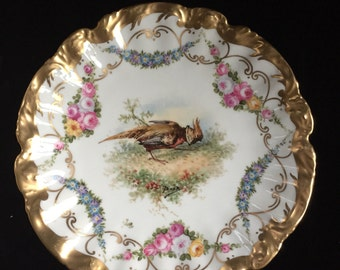 Hand painted Signed Limoges plate