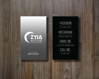 ZYIA Business Card - Black