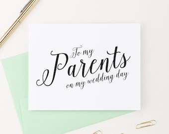 To My Parents on My Wedding Day, Wedding Card to my Mother and Father, Parents of the Bride or Groom Cards, To my Mother, WIS02