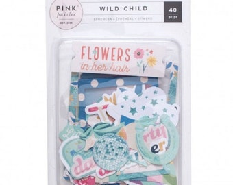 Die cuts - Pink Paislee Wild Child Girl - 40 pcs