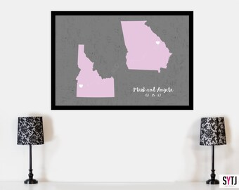 Wedding Guestbook, Wedding Guestbook Poster, Sign our Guestbook, Guestbook, Wedding Guestbook States Poster, Wedding Guestbook States