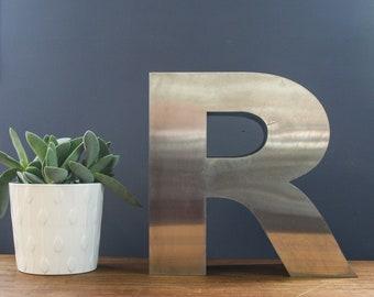 Vintage Shop Letter R, stainless steel 3D letter Wall Letter