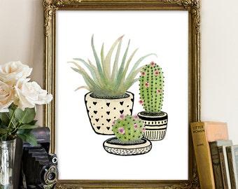 Cactus printable, cacti wall art, cacti printable, cactus printable, cactus wall art, botanical print, tropical printable, tropical wall art