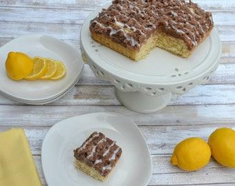 Lemon Crumb Cake, NY Crumb Cake, Coffee Cake, Vanilla Cake, Traditional Cake, Luxury Cake, Lemon Drizzle Cake, Gourmet Cakes, NY Crumb Cake
