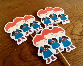 Brave Friends Party - Set of 12 Triplet Brothers Assorted Cupcake Toppers by The Birthday House