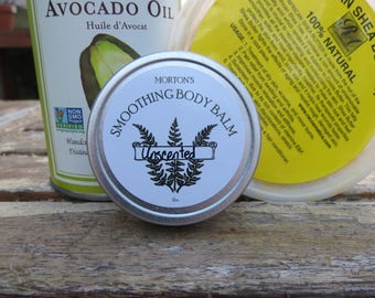 Natural Smoothing Body Balm handmade with Shea Butter and Vitamin E