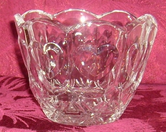 Vintage Fifth Avenue Crystal Bowl/Vase with Hearts