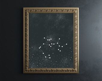 Sagittarius 8x10 Print // fine art print // zodiac print // wall art // wall decor // home goods // astronomy // zodiac // constellation