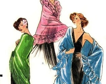 Vogue 8867 Extravagant Evening Shawls 1970's / UNCUT