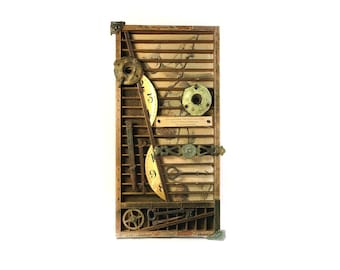 Longfellow Birds of Passage Assemblage — Poetic Found Object Assemblage — Bird Assemblage with Poetry