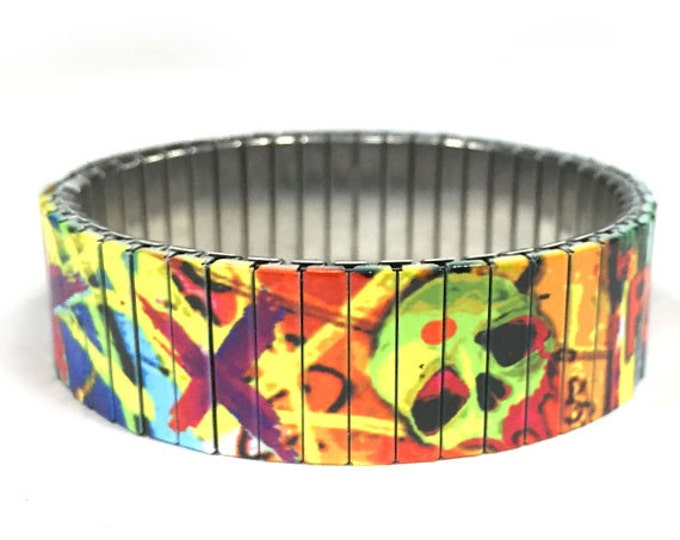 Squad inspire bracelet, Stretch, movie, hollywood, Stainless Steel, repurposed watch band, Sublimation, gift for friend