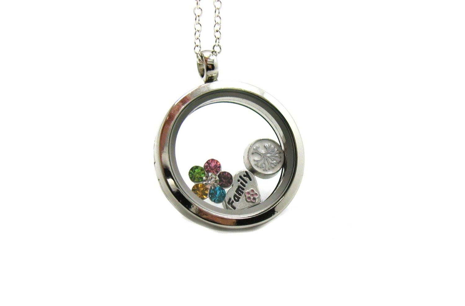 necklaces real boutique necklace jewelry glass for item locket women pendant charm memory in pendants dried flower from gifts lockets