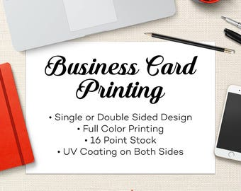 """Business Card Printing - Card Printing Service - All Inclusive Pricing - Calling Cards, Mommy Cards, Single or Double Sided 3.5""""x2"""""""