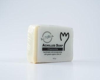 100% Greek Organic Olive Oil Soap - Chamomile Soap - Natural Soap - Handmade Cold Process Soap