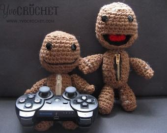 Sackboy Crochet Patterns (Open & Closed Mouth)
