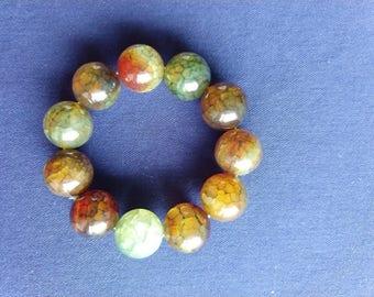Beautiful Burmese Natural Stone Bracelet ( 19 mm Bead )