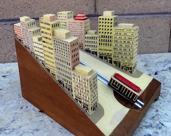 Rare Reuge, San Francisco Landscape, Cable Car Music Box, Reuge Swiss Musical Movement, I Left My Heart In San Francisco,