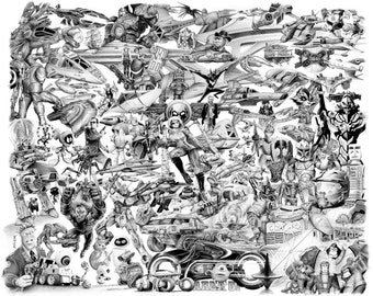 Science Fiction 2 - pencil drawing - limited edition print by James Becker