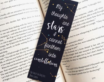 My Thoughts Are Stars | The Fault In Our Stars Bookmark